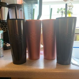 Steel Starbucks Tumblers